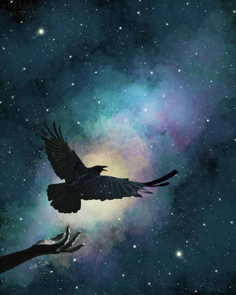 Wall Art - Digital Art - Blackbird Singing In The Dead Of Night by Nikki Marie Smith