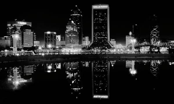 Wall Art - Photograph - Blackest Night In Jacksonville by Frozen in Time Fine Art Photography