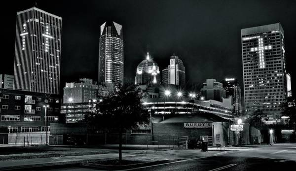 Okc Photograph - Blackest Of Nights In Okc by Frozen in Time Fine Art Photography