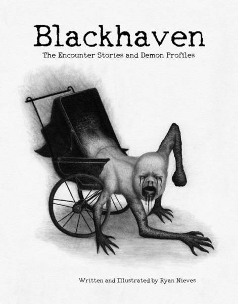 Drawing - Blackhaven The Encounter Stories And Demon Profiles Bookcover, Shirts, And Other Products by Ryan Nieves