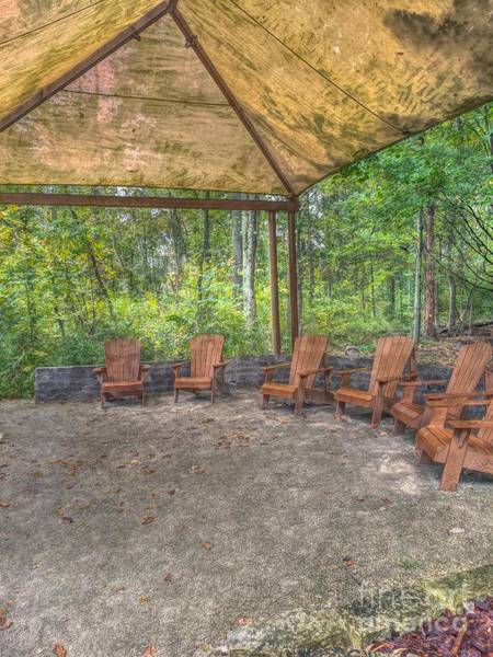 Photograph - Blacklick Woods - Chairs by Jeremy Lankford