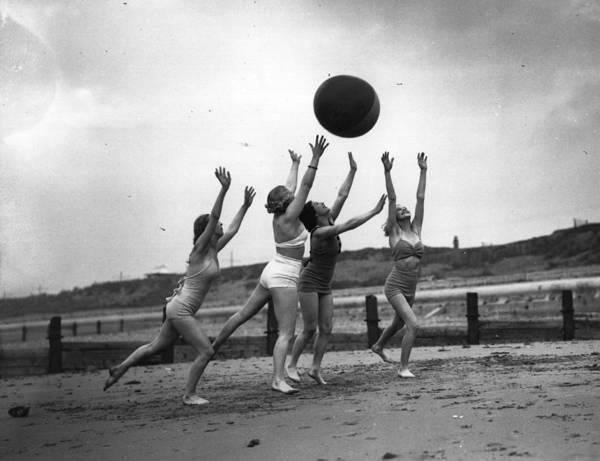 Playful Photograph - Blackpool Beach by Fox Photos