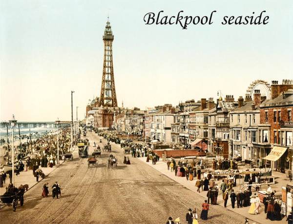 Seaside Digital Art - Blackpool Seaside by Long Shot
