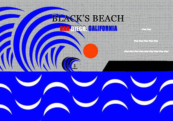 Wall Art - Digital Art - Black's Beach California Surfing Art by David Lee Thompson
