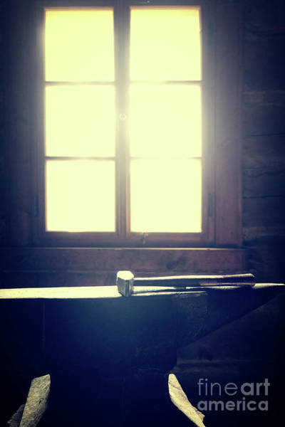 Wall Art - Photograph - Blacksmith's Hammer On The Anvil by Michal Boubin