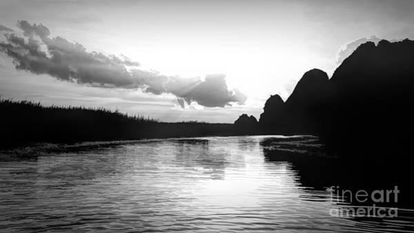 Wall Art - Photograph - Blackwhite Nature Reserve Van Long Vietnam  by Chuck Kuhn