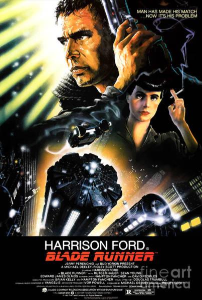 Blades Mixed Media - Blade Runner - 1982 by Kultur Arts