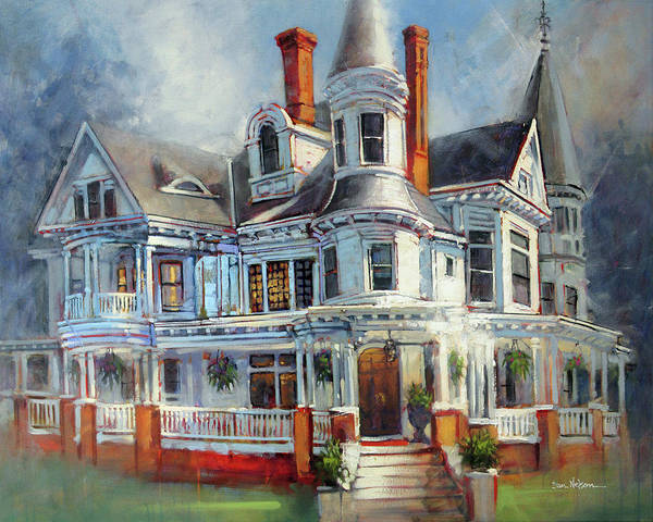 Wall Art - Painting - Blades House, New Bern by Dan Nelson