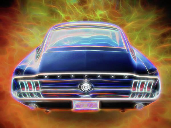 Digital Art - Black Mustang Tail by Rick Wicker
