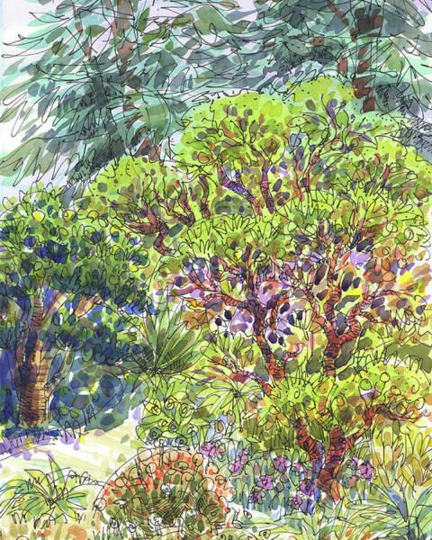 Painting - Blake Garden, Berkeley Ca by Judith Kunzle