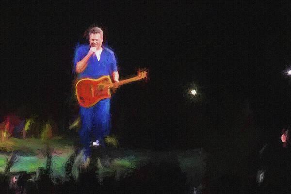 Photograph - Blake Shelton At Concert by Dan Friend