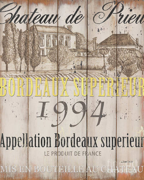 Wall Art - Painting - Blanc Wine Label 1 by Debbie DeWitt