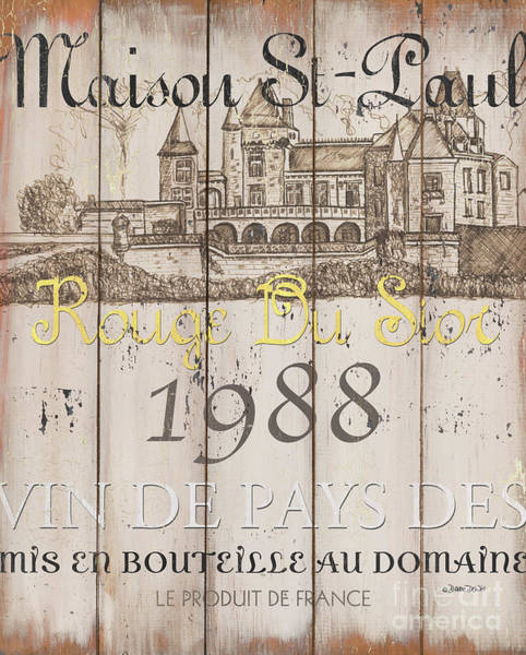 Wall Art - Painting - Blanc Wine Label 2 by Debbie DeWitt