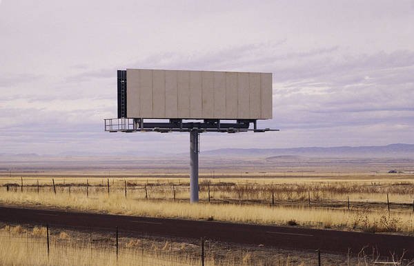 Blank Billboard Art Print