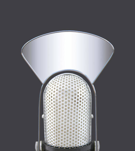 Photograph - Blank Radio Tv Microphone by Valerie Loiseleux
