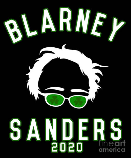 Digital Art - Blarney Sanders 2020 Bernie St Patricks Day by Flippin Sweet Gear