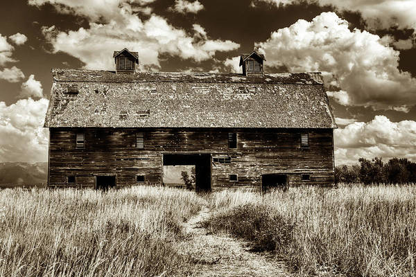 Photograph - Blasdel Barn In Sepia by Mark Kiver