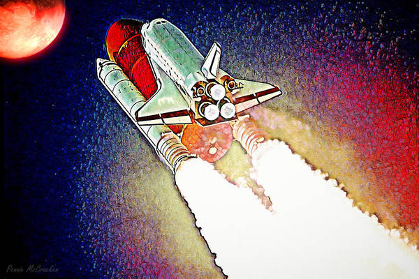 Digital Art - Blast Off To Mars by Pennie McCracken