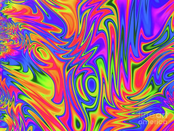 Digital Art - Blaze by Elaine Teague