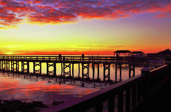 Photograph - Blazing Evening At The Hilton Pier by Ola Allen
