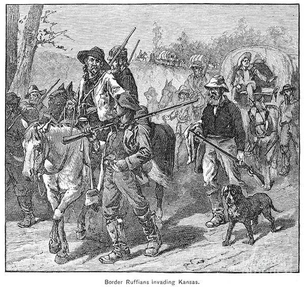 Drawing - Bleeding Kansas, 1856 by Granger