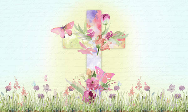 Wall Art - Mixed Media - Blessed Easter by Lanie Loreth