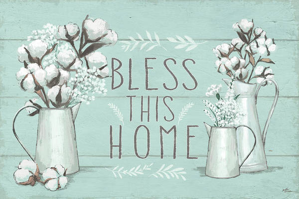 Cotton Painting - Blessed I Mint by Janelle Penner