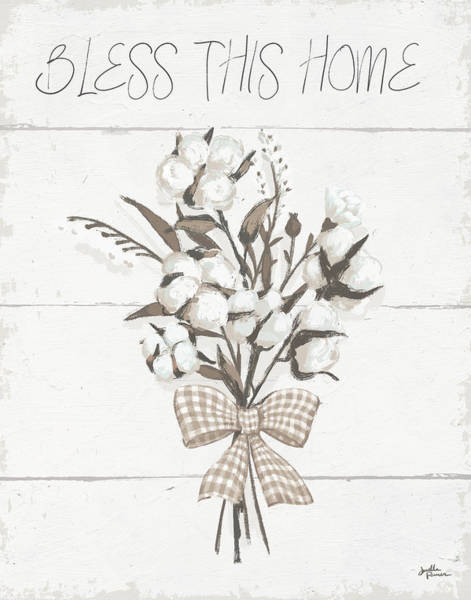 Wall Art - Painting - Blessed II Neutral by Janelle Penner