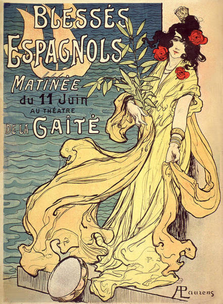 Painting - Blesses Espagnols Matinee Vintage French Advertising by Vintage French Advertising