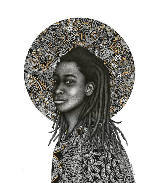 Trinidad Drawing - Blessing by Donna Tull