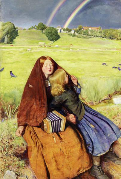Millais Painting - Blind Girl by John Everett Millais