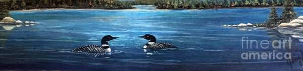 Loon Painting - Bliss by Joey Nash