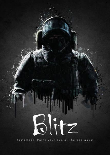 Blitz Digital Art - Blitz by TraXim