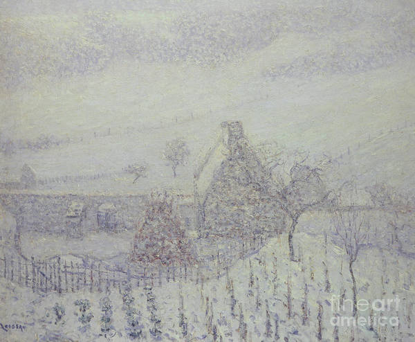 Wall Art - Painting - Blizzard At Hedouville by Gustave Loiseau