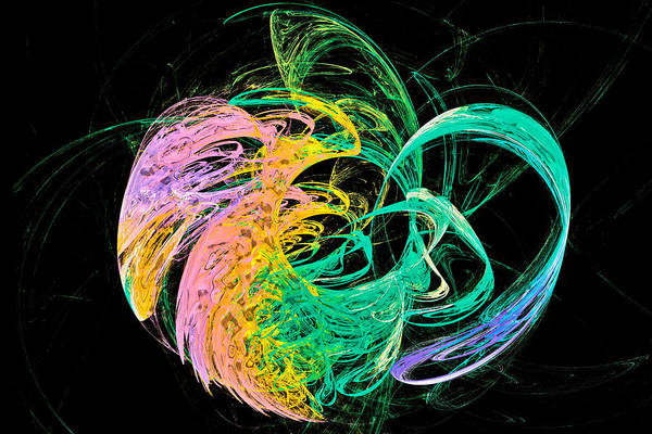 Digital Art - Blob Of Color Multi by Don Northup