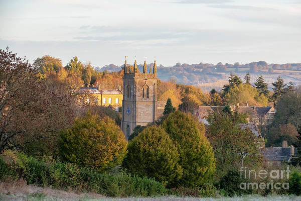Wall Art - Photograph - Blockley Church In The Autumn Sunrise  by Tim Gainey