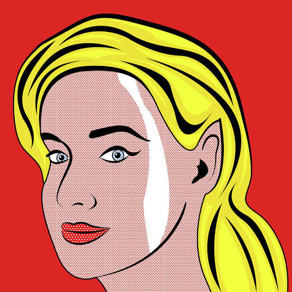 Wall Art - Digital Art - Blond Portrait by Long Shot