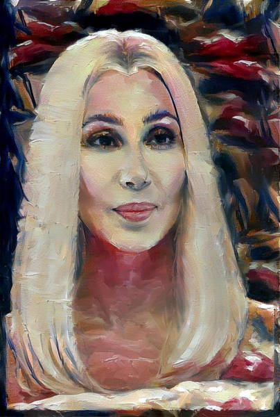 Digital Art - Blonde Cher  by Richard Laeton