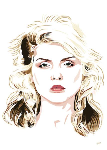 Blondie Digital Art - Blondie Portrait by Jarod Art