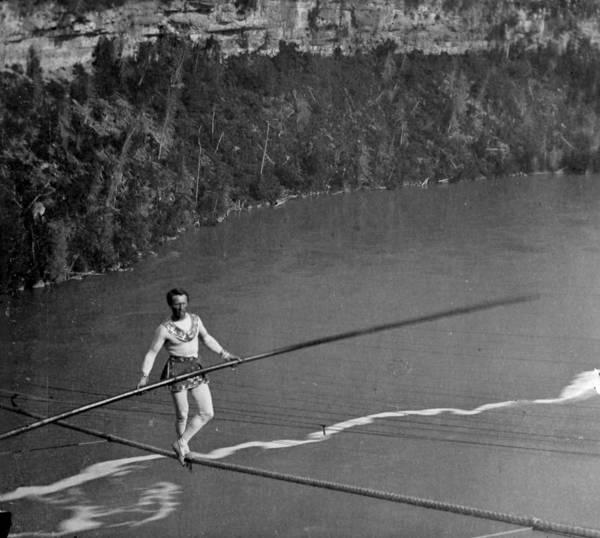 Acrobat Photograph - Blondin Over Niagara by William England