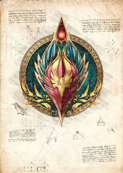 Paladin Digital Art - Blood Elf Race Crest Alliance World Of Warcraft Wow by Mad Lab