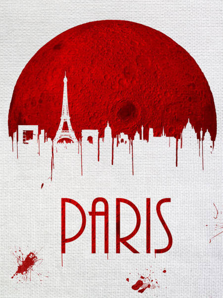 City Scape Digital Art - Blood Moon Drips Over Paris by Tim Palmer