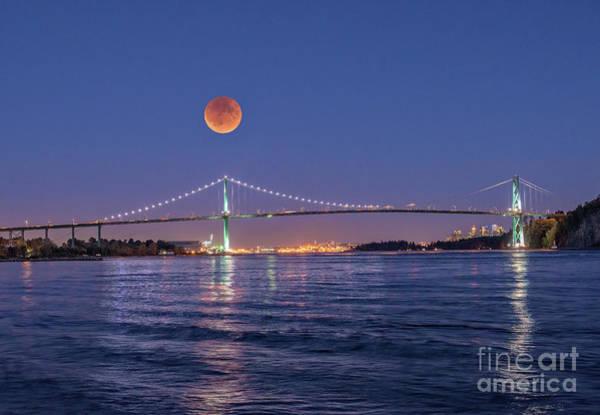 Pyrography - Blood Moon  by Mauro Celotti