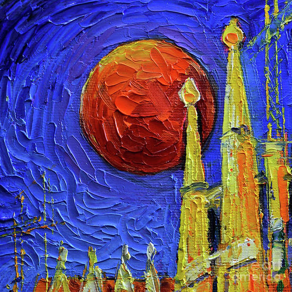 Wall Art - Painting - Blood Moon by Mona Edulesco