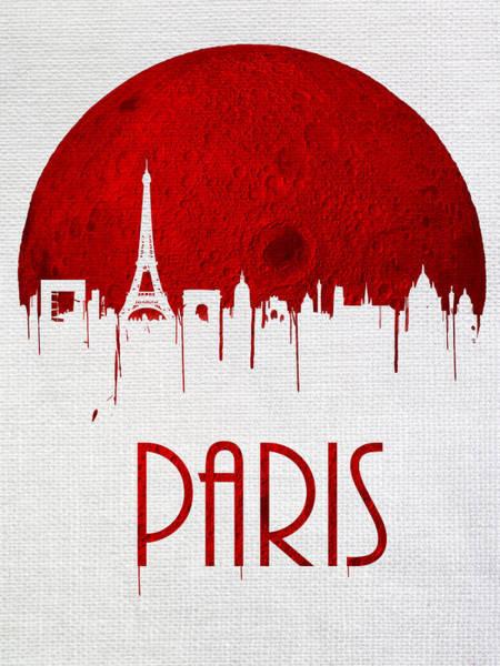 City Scape Digital Art - Blood Moon Over Paris by Tim Palmer