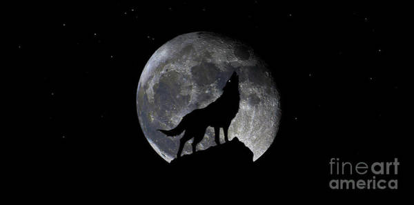 Pre Blood Red Wolf Supermoon Eclipse 873r Art Print