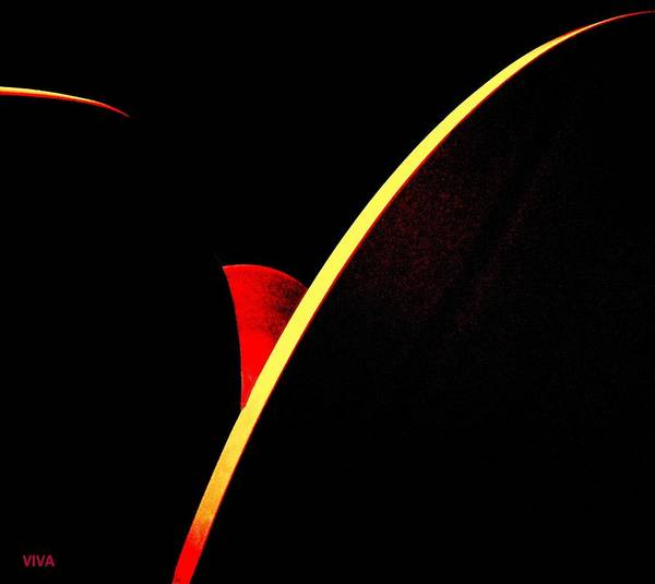 Wall Art - Digital Art - Bloodmoonrise Abstract by VIVA Anderson