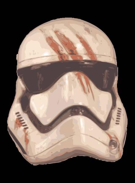 Han Solo Wall Art - Digital Art - Bloody Helmet by Filip Hellman