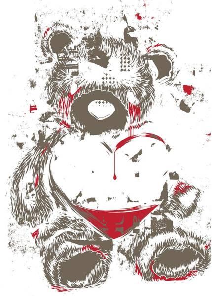 Digital Art - Bloody Tears Crying Teddy Bear by Passion Loft