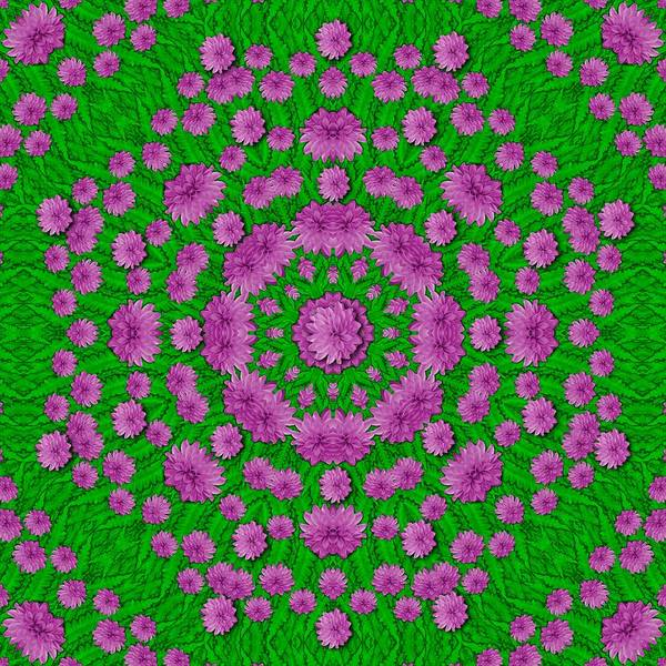 Divine Love Mixed Media - Bloom In Peace And Love Mandala by Pepita Selles